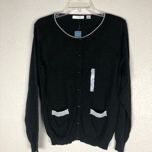 NWT Passports Button Down Cardigan Sweater Size L